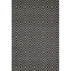 Hand-Woven Black Indoor/Outdoor Area Rug