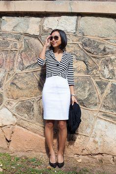 Winter White & Stripes - @tjmaxx blazer