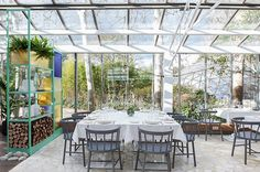 El restaurante de cristal. El Invernadero, en Los Peñotes, Madrid