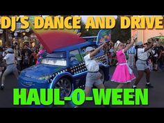 Join DJ, his pit crew, and a few waitresses from Flo's in this special Halloween version of DJ's Dance 'n Drive. For Haul-O-Ween this year, DJ is a Trunk Roc. Halloween Time At Disneyland, Disney Halloween, Dj Dance, Cars Land, Disneyland Resort, Monster Trucks, California, Adventure, Adventure Game