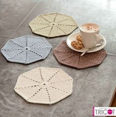 Manteles e individuales a crochet on pinterest african - Individuales para mesa ...