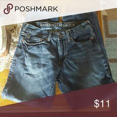AE slim straight jeans 28*30 In good condition. No major signs of wear. A little fading. Lots of life left in them. American Eagle Outfitters Jeans Slim Straight