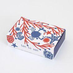 レタープレスのミニカード(砂浜)マッチ箱- 女子文具PuPuPu-かわいい文房具とおしゃれ雑貨、デスクアイテムの女性の為の文房具店