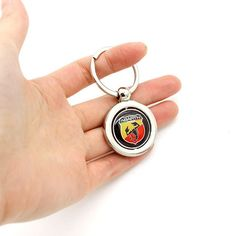 KeyRing For Alfa Romeo BMW benz Ford Peugeot Logo Metal KeyChain Badge Key Ring Emblem Key Holder Chain Review