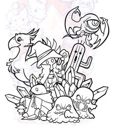 Behance :: Final Fantasy Tattoo Design by Ryan Sylke