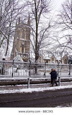 Snow covered St Johns church Leytonstone London 22nd February 2009
