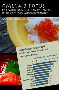 Support your brain and heart with these Omega 3 foods (and note these common misconceptions)