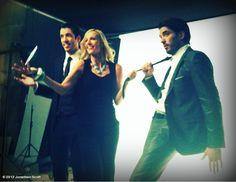 Jonathan Scott's photo: Messin around with Candice Olson & @Drew Scott in studio!