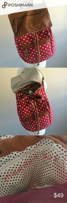 Spotted while shopping on Poshmark: Madden Girl Red Polka Dot Backpack! #poshmark #fashion #shopping #style #Madden Girl #Handbags