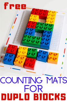 Free printable counting activity for DUPLO blocks. Count to 10 with DUPLO in your preschool math activities. Educational Activities For Kids, Counting Activities, Stem Activities, Preschool Math, Fun Math, Maths, Lego Duplo Town, Lego Lego, Lego Batman