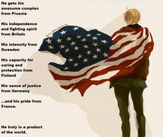 Hetalia Headcannon: America, personality.