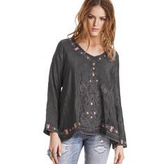 barefeet l/s blouse ASPHALT