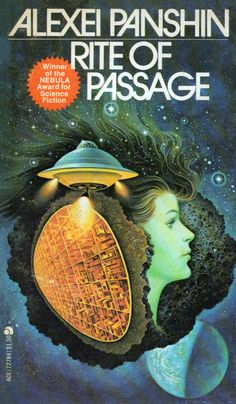 Ace 72784: Rite of Passageby Alexei Panshin 1968. Cover to 1975 edition by unknown artist.