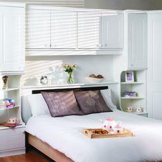 Henley Overbed Surround Headboard Clic Storage Hardwood White