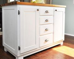 Congregate in the kitchen with your family with this gorgeous DIY Kitchen Island! This tutorial includes free woodworking plans to help you create additional counter space and storage space in your kitchen.