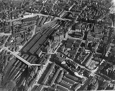 Part of the Aerofilms collection found on the Britain from Above site. Nottingham Station, Railroad Pictures, Steam Railway, Exeter, Natural Disasters, Train Station, Britain, City Photo, Past