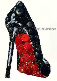 Christian Louboutin Red Bottom Stiletto Button Art                                                                                                                                                     More