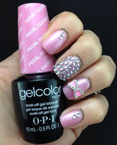 Opi Gel Color Pedal Faster Suzi! W/Crystals Nail Art