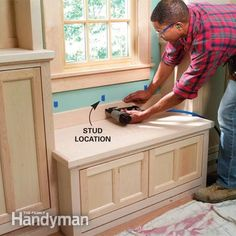 Tutorial - Window Seat Plans | Build the window seat around a cabinet