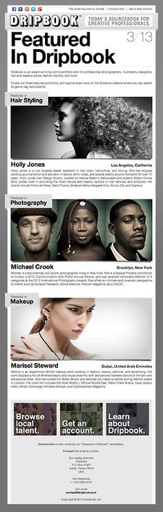 Dripbook is talking about us :) (via Email Promo: : Featured in : March March 2013, Hair Designs, Studio, Hair Styles, Blog, Photography, Fotografie, Hair Models, Hairdos