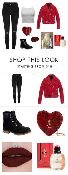 """in1"" by adara-aijem on Polyvore featuring moda, River Island, Andrew Marc, Timberland y Yves Saint Laurent"
