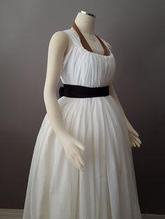 "Hem circ: 165"", cotton voile.  American Duchess: The Midnight Chemise a la Reine"