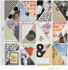 amazing triangle layout for Project Life by Elise Blaha