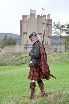 A #Jacobite stands ready to welcome visitors to #Braemar #Castle