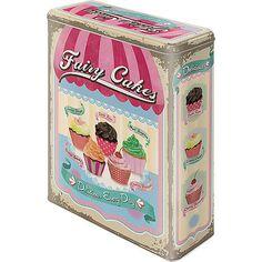 """Ein farbenfrohes Accessoire: die Nostalgic-Art Vorratsdose """"FAIRY COOKIES"""" ist ein kultiger Blickfang. Die Box hat einen fest schließenden Deckel und bietet zum Beispiel Platz für eine handelsübliche Packung Cornflakes"""