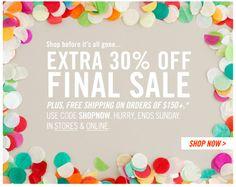 Confetti + bold offer + side strip CTA - confetti makes everything more festive :)