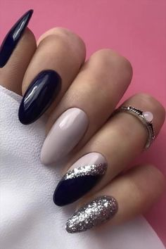 In previous articles, we introduced blue and pink nails. The theme color recommended today is the most mysterious black nail. Cute Acrylic Nails, Acrylic Nail Designs, Gel Nails, Pastel Nail, Colorful Nails, Manicures, Perfect Nails, Gorgeous Nails, Stylish Nails