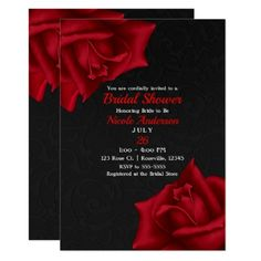 Shop Beautiful Black Texture Red Roses Bridal Shower Invitation created by printabledigidesigns. Black Red Wedding, Red And White Weddings, Purple Wedding, Our Wedding, Dream Wedding, Wedding Gifts, Wedding Stuff, Wedding Flowers, Red And White Wedding Decorations