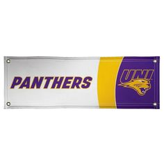 Northern Iowa Panthers 2' x 6' Vinyl Banner - White - $34.99