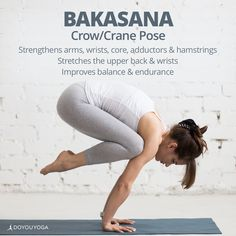So many benefits to this fun arm balance! 🕊 Why do you love to practice Crow Pose? 😍