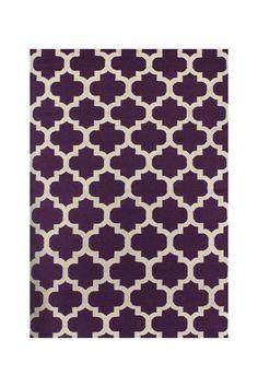 Hewlett Hand Woven Wool Rug - Lilac on @HauteLook