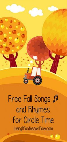 The songs and rhymes in today's post are non-holiday fall songs and rhymes for circle time.