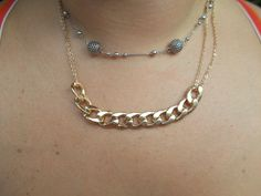 A muct have! Chain Link Necklace in Gold tone. Go to:  facebook.com/hotflairs  etsy.com/hotflairs