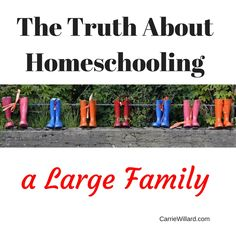 The Truth about Homeschooling a Large Family: I spill the secrets! #homeschooling #largefamilylogistics #7kids