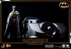 In the interest of Marvel/DC nonpartisanship, this is the combo that originally inspired this board.  Again, if I were the sort of fellow who could justify nearly $900 on toys, 1/6 scale Michael Keaton Batman and his Batmobile would be on display in my hypothetical office.