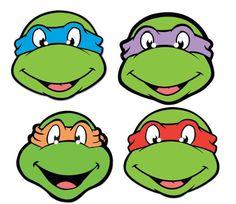 Teenage Mutant Ninja Turtles Face Mask Set of 4 - ClipArt Best . Ninja Turtle Party, Ninja Turtle Wedding, Ninja Turtle Mask, Ninja Party, Ninja Turtle Birthday, Teenage Mutant Ninja Turtles, Teenage Ninja, Teenage Turtles, Michelangelo