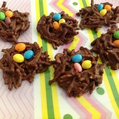 Easter Nests w/chow mein noodles @keyingredient #chocolate