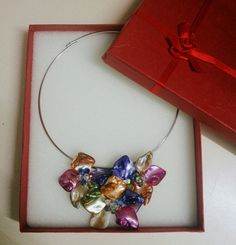 Gorgeous multicolored shells & beads necklace