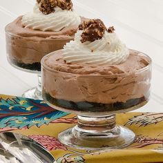 Mini No-Bake Nutella Cheesecakes from Real Mom Kitchen