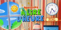 Application pour apprendre à lire l'heure - App-Enfant.fr Ipad, Home Schooling, Applications, Grade 1, Activities For Kids, Teaching Ideas, Learning, Kid Activities