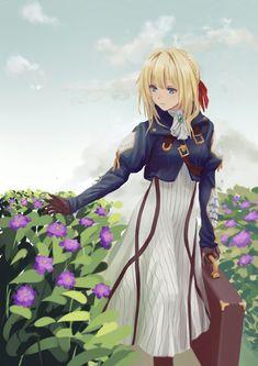 Anime Nerd, Anime Guys, Manga Anime, Violet Evergarden Wallpaper, Wallpaper Wallpapers, Violet Evergreen, Violet Garden, Violet Evergarden Anime, Fanart