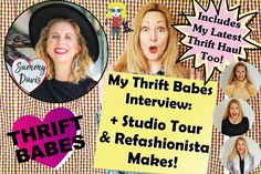 Grab a cup of tea, get cozy and enjoy my Thrift Babes Ecofashion Vintage Style Interview + Studio Tour & Thrift Haul with SammyDTV! Second Hand Shop Online, Vintage Style, Vintage Fashion, Thrift Haul, Interview Style, Getting Cozy, Confessions, Thrifting, Tours