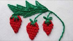 Easy Embroidery Stitches by Hand: You can stitch any of pattern using these stitches, If you've embroidered any other designs based on bullion, French knot, Braided Chain or lazy daisy technique, I would love to see them. Please give a description and Embroidery Leaf, Basic Embroidery Stitches, Learn Embroidery, Embroidery Needles, Embroidery For Beginners, Hand Embroidery Designs, Embroidery Techniques, Embroidery Patterns, Machine Embroidery