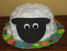 Handmade Easter Bonnet Little Lamb Prize Winning Easter Parade - QUICK DISPATCH