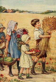 Children Bringing in the Autumn Harvest