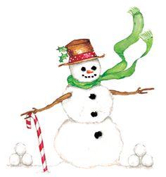 Snowman from Susan Branch's 2010 blotter calendar.